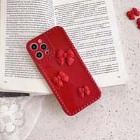 Funda de silicona para Xiaomi 11 Lazo Rojo, protección de cámara de Color caramelo, 11 funda de teléfono para Xiaomi 11