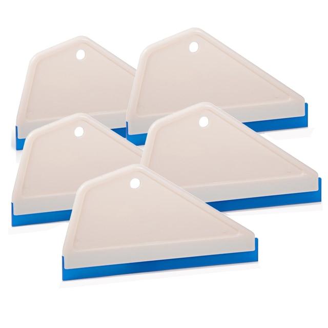 FOSHIO 5PCS 가정용 청소 유리 스크레이퍼 워터 와이퍼 창 Tinting 앞 유리 고무 블레이드 스퀴지 비닐 포장 자동차 도구