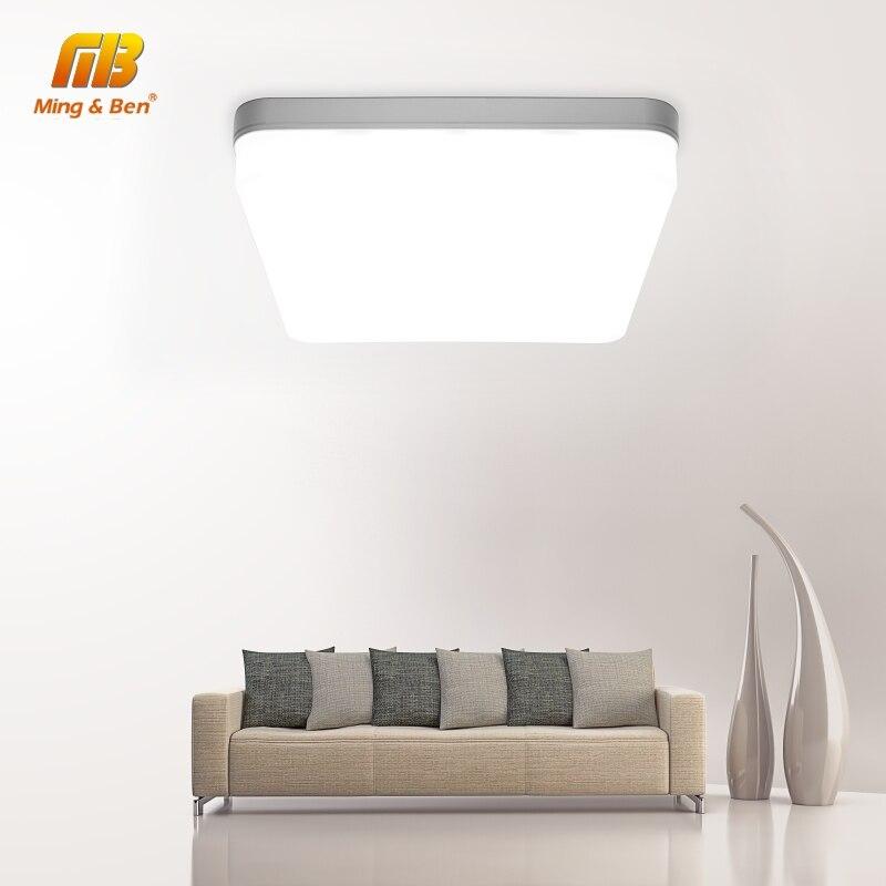 דק במיוחד LED תקרת מנורת LED מודרני פנל אור 48W 36W 24W 18W 9W 6W 85-265V חדר שינה מטבח משטח הר סומק פנל אור