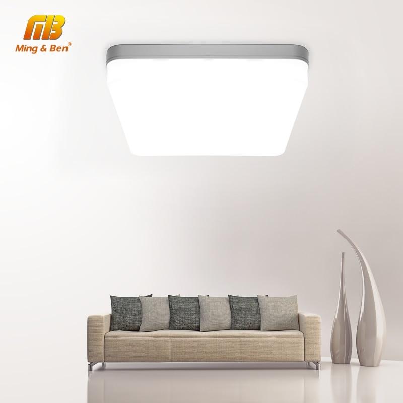 Ultra Thin LED โคมไฟเพดาน LED โมเดิร์นแผง 48W 36W 24W 18W 9W 6W 85-265V ห้องนอนห้องครัว Surface Mount Flush PANEL LIGHT