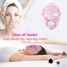 Silicone 3D Facial Mask Electric EMS Vibration Beauty Massager Skin Care Rejuvenation Anti wrinkle Acne Removal Face Beauty Spa