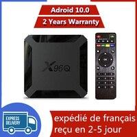 Migliore x96q Android 10.0 TV Box iptv Box Allwinner H313 1G 8G 2G 16G X96 Q Neo TV pro Mail-G31 MP2 Smart IP TV Set Top Box