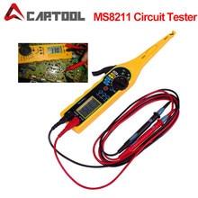 Auto auto Power Elektrische Circuit-Tester MS8211 0-380V Automotive Multimeter Lampe Auto Reparatur Werkzeug Mit Lcd-bildschirm display