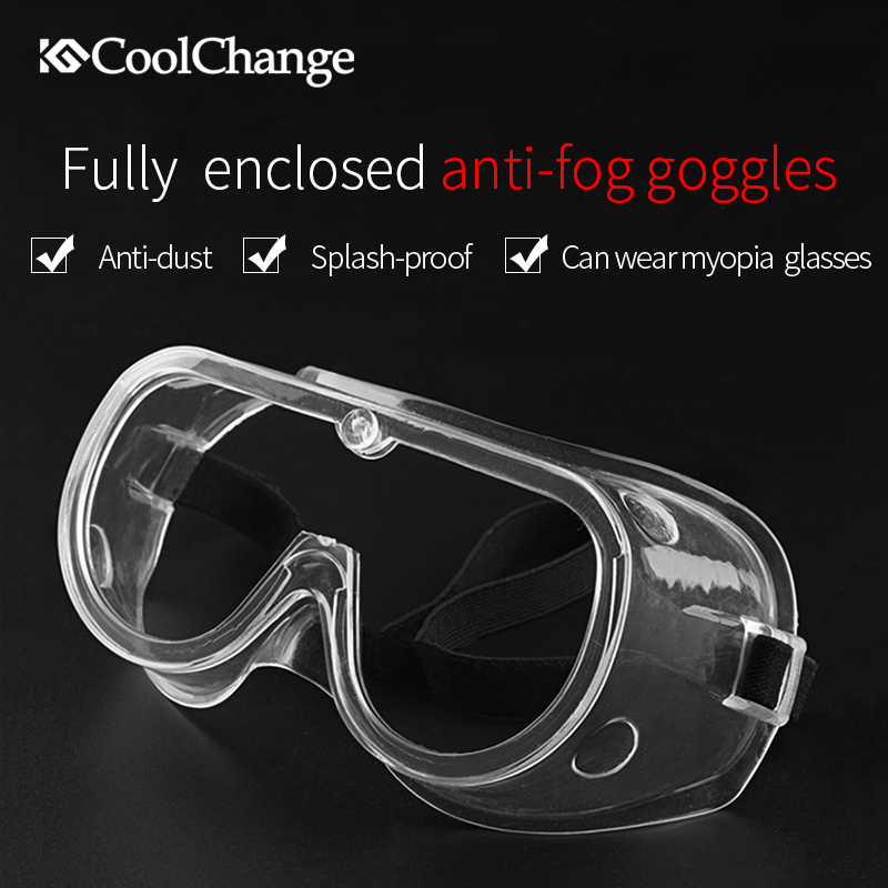 CoolChange Anti-Fog Cycling Glasses Outdoor Sports MTB Road Bike Bicycle Protection Goggles Eyewear Dust-proof