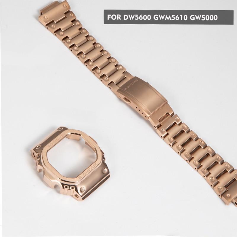 316L stainless steel GW5000 GW-M5610 DW5600 watchband bezel/case metal strap steel belt tools for men/women gift