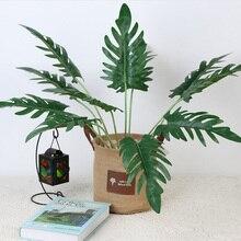 Горячая имитация искусственного растения искусственные листья украшения для сада офиса вечерние свадебные NDS