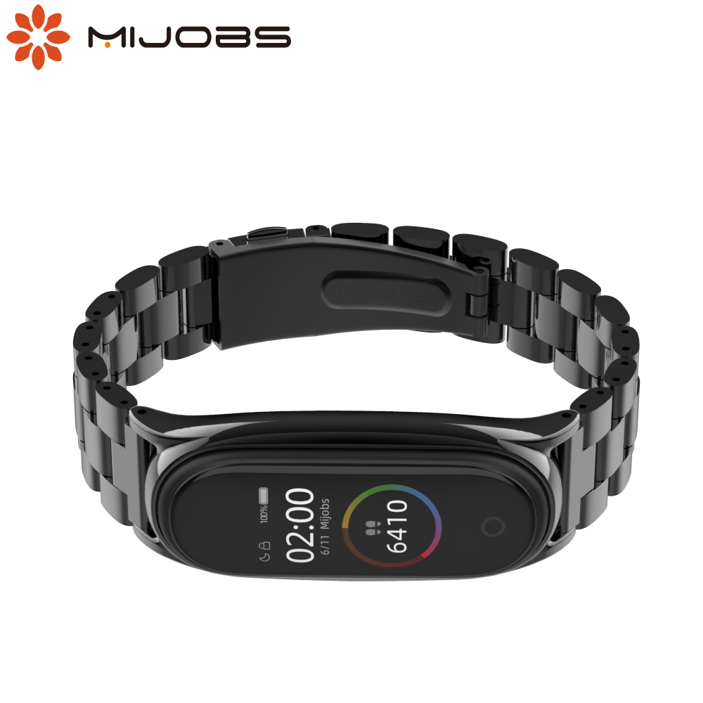 For Xiaomi Mi Band 5 Strap Wrist Bracelet Mi Band 4 Strap Metal Wristbands for Correa My Band 3 4 5 NFC Global Version Watch image