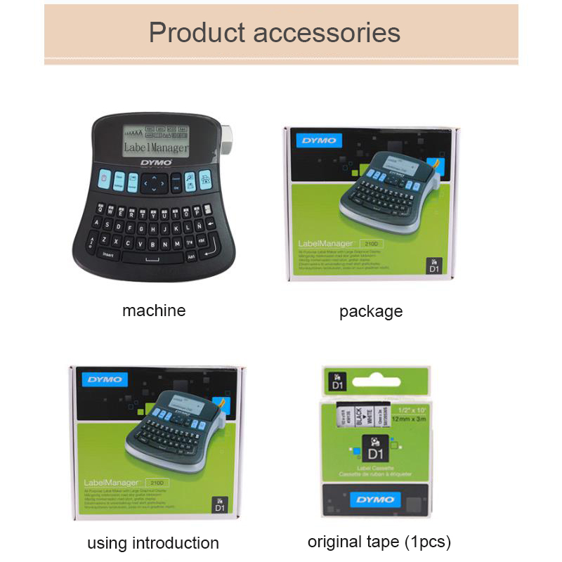 LM 210D Handheld and Portable Label Makers to Print in 6 to 12 MM Label Tape and Sticker 3