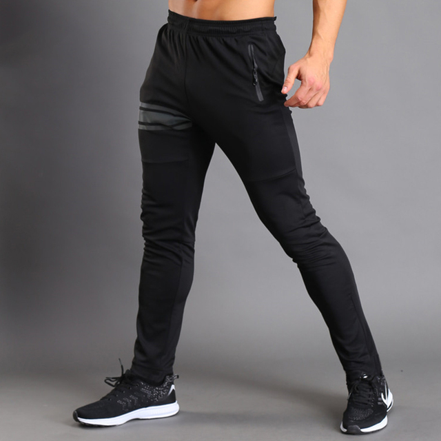 Pantalones largos elásticos y transpirables para hombre, pantalones largos de chándal para deporte, gimnasio y Fitness 2