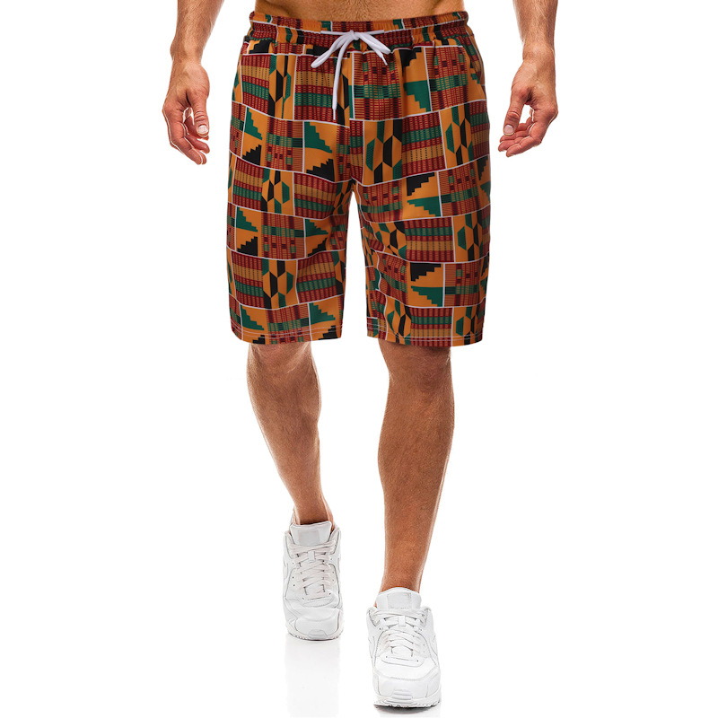 Summer Africa Beach Printed Shorts Cross Border Youth Loose-Fit Surfing Sports Shorts Men's Shorts ZT-FZ51