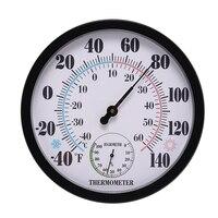 10 بوصة في الأماكن المغلقة في الهواء الطلق لا بطارية الطقس ميزان الحرارة الرطوبة الجدار الرطوبة للفناء ، أو الزخرفية-في أجهزة قياس درجة الحرارة من أدوات على