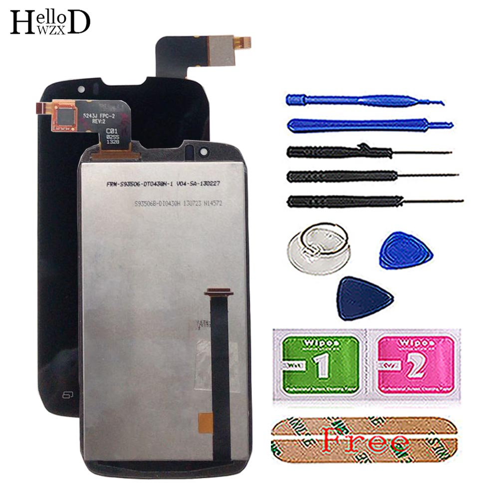 Touch Screen Digitizer Panel LCD Display For <font><b>DNS</b></font> <font><b>S4502</b></font> 4502 S4502M Boost Cloudfone Thrill430X Innos D9 D9C Screen LCD Display image
