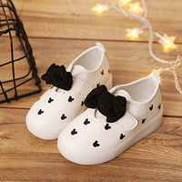 Kids Led Light Up Shoes Girls Bow Led Light Shoes Lightweight Breathable Baby Girl Shoes Casual Children's Shoes
