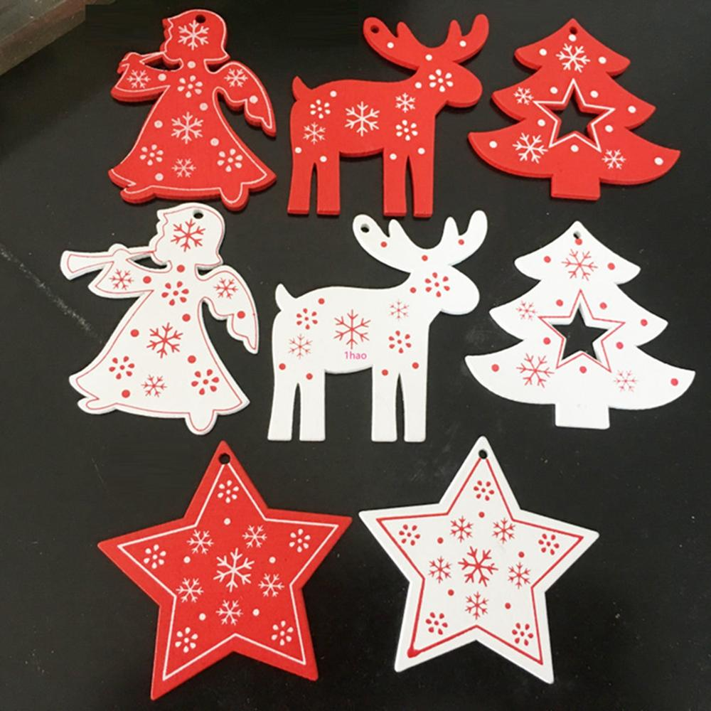 10pcs New Year Christmas Tree Ornament Gift Star Angel for Home Party Decoration Hanging Pendant accessories