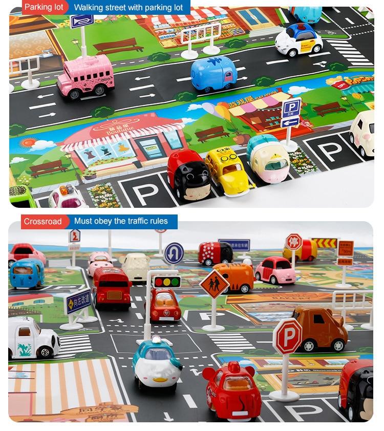 Hfa56454d9d9d4ac1bf62a547f8b8146ce Large City Traffic Car Park Mat Play Kids Rug Developing Baby Crawling Mat Play Game Mat Toys Children Mat Playmat Puzzles ZXH