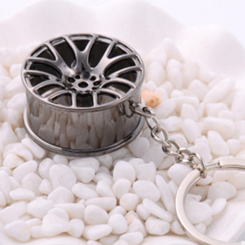Fit Wheel Rim Keychain Creative Auto Part Car Keyring Key Chain Ring Key fob Key Ring Key Chain Ring Car Interior Accessories image