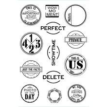 English Transparent Clear Silicone Stamp/Seal for DIY scrapbooking/photo album Decorative clear stamp недорго, оригинальная цена