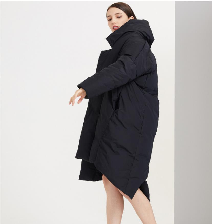 Winter great quality thicker warm natural white goose down coats female Oversize parkas longer Down jackets warm coat F676