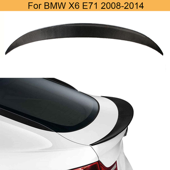 Carbon Fiber Car Rear Wing Spoiler for BMW X6 E71 2008-2013 Rear Trunk Boot Lip Spoiler Wing Window Lip Wing FRP Black image