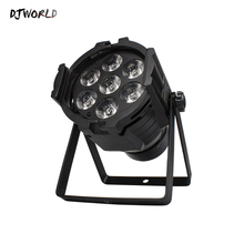 LED Par Can 7x12W Aluminum alloy RGBW 4in1 DMX512 Wash dj stage light disco party Dj Lighting Ballroom