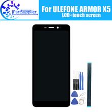 Osłona ULEFONE X5 wyświetlacz LCD + ekran dotykowy 100 oryginalny przetestowany wyświetlacz LCD Digitizer wymienny szklany Panel osłona ULEFONE X5 tanie tanio iParto Pojemnościowy ekran ULEFONE ARMOR X5 5 5 inch 1440x720