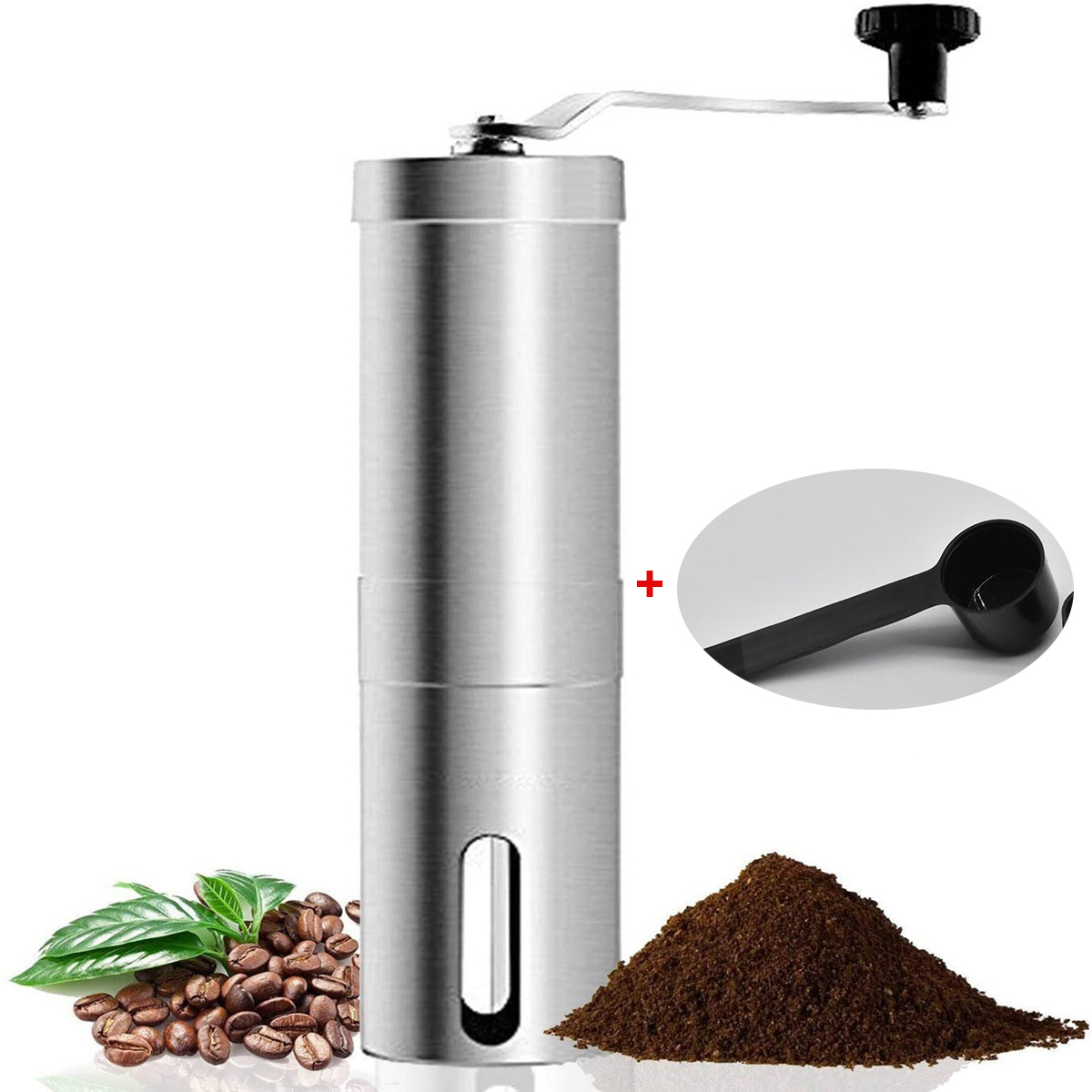 Portable Stainless Steel Manual Coffee Bean Grinder Handmade Grinder Manual Grinding Machine Coffee Mill Kitchen Tool Dropshipin