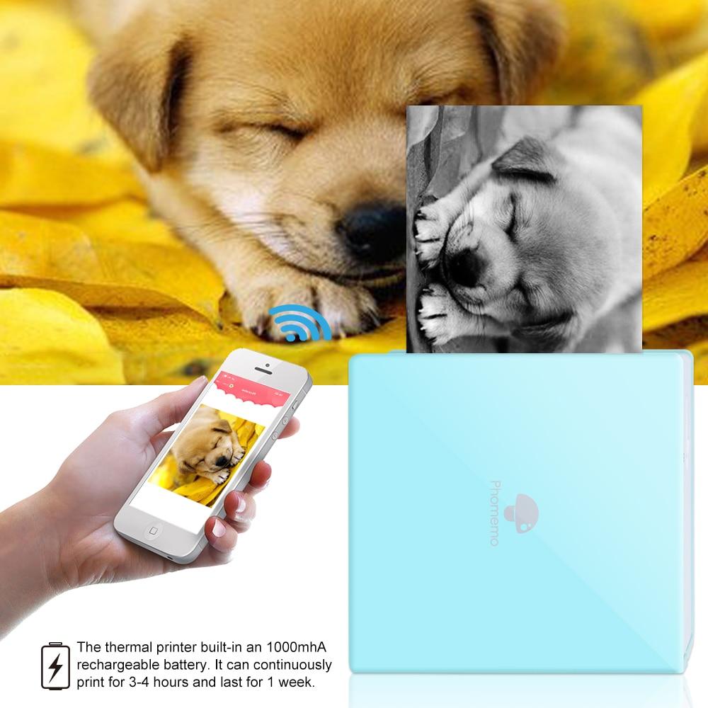 Phomemo M02 Portable Label Printer Mini Bluetooth Wireless Thermal  Photo Printer Multifunctional Memobird And Study  Note