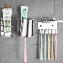Настенный держатель для зубных щёток, из нержавеющей стали