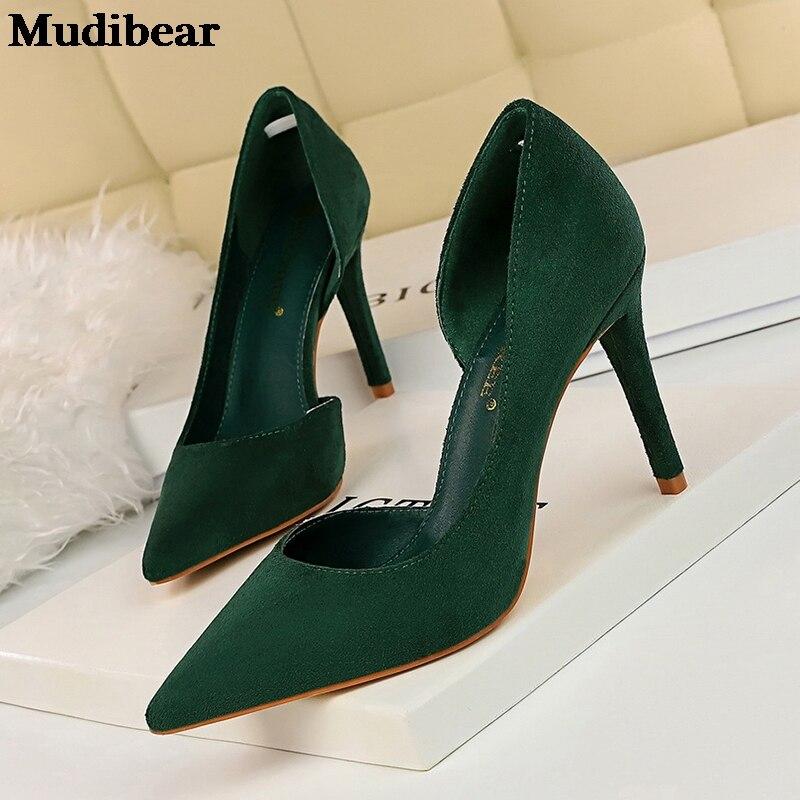 Купить туфли mudibear женские на высоком каблуке модные туфли лодочки