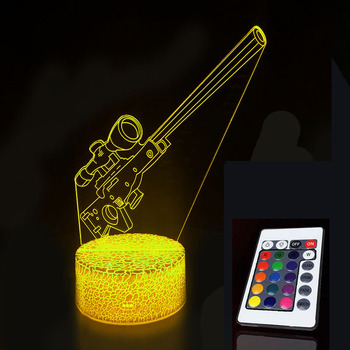 цена Sleep Light Projection Lamp Children Bedroom Night LED Lights Battle Royale Action Figure Christmas Gifts онлайн в 2017 году
