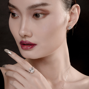 Image 4 - יוקרה 925 כסף סטרלינג טבעת רוז זהב צבע 5 קרט גדול סגלגל לחתוך SONA טבעת נשים חתונת אירוסין יום נישואים zilvere טבעת