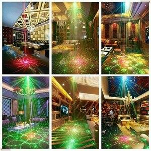 Image 5 - Wakyme Mini Rgb Disco Licht Dj Verlichting In Podium Lichteffecten Ster Whirlwind Laser Projector Club Bar Party Licht 60 patroon
