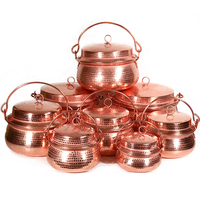 Pure Thickened Copper Gong Pot Soup Pot Copper Steam Pots Soup Universal Cooking Pots Induction Cooker Gas Stove Set
