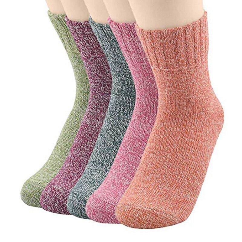 Однотонные лыжные шерстяные носки для мужчин и женщин, зимние теплые носки, велосипедные носки для альпинизма, сноуборда, спортивные носки ...