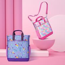 Uek Students Portable Tutorial Bag Stationery Tote File Bag Book Handbag Travel School Package For Girls Oxford Cloth Waterproof