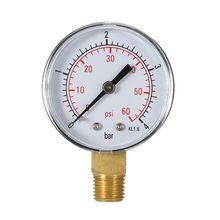 """0-4bar/0-60psi compresor de aire hidráulico medidor de presión combustible aceite de aire alto medidor de vacío 1/4 """"NPT Montaje Lateral 4XFD"""