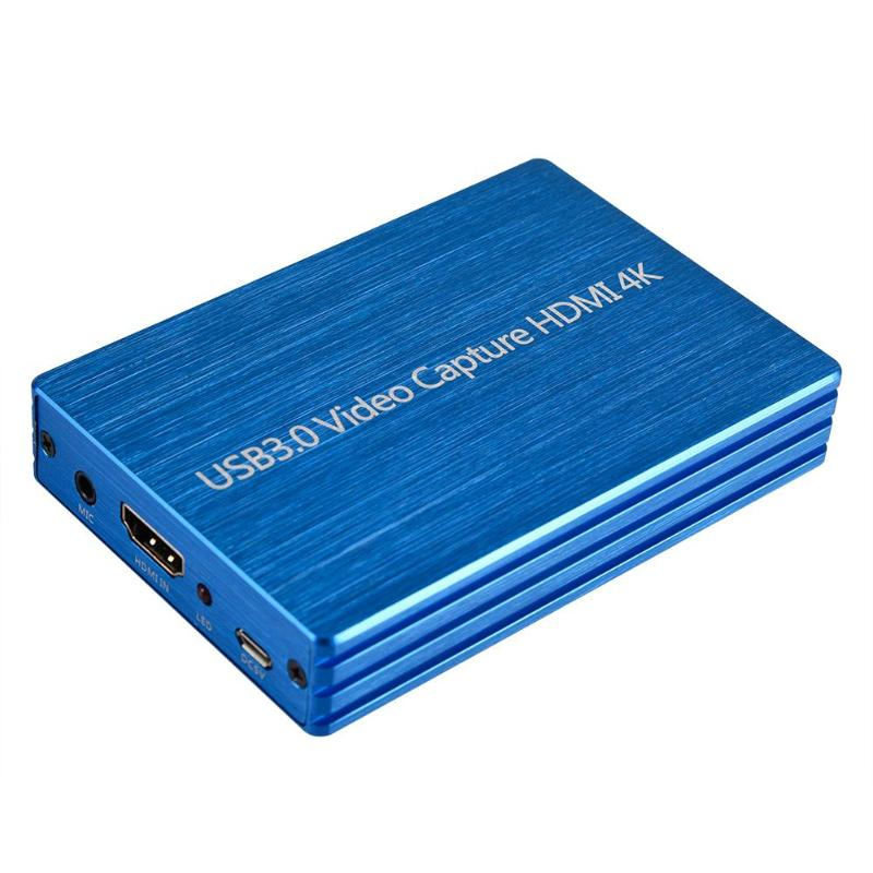 4K 1080P HDMI to USB 3.0 Video Capture Card for OBS Live Stream Broadcast Case Automatically Adjust Settings for Output Size