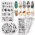 Пластины для штамповки ногтей PICT YOU, тропическая коллекция, шаблоны штампов для дизайна ногтей, пластина для создания рисунка ногтей, инстру...