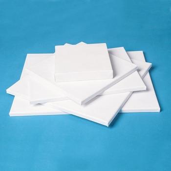 1 шт. Белая пустая квадратная художественная холщовая доска для рисования деревянная рамка для холста масляные краски для грунтованные масляные, акриловые краски для рисования