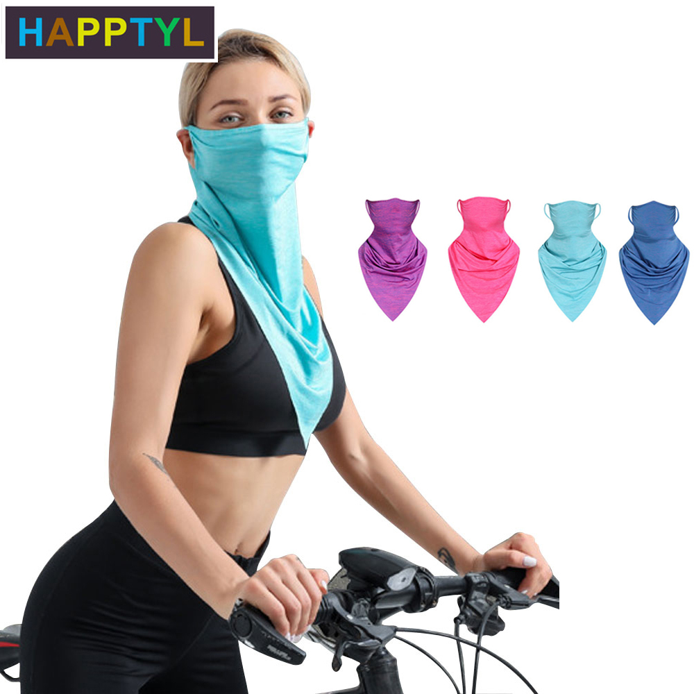 HAPPTYL Ice Silk Cooling Magic Scarf,Mask For Summer Face And Neck Sun Protection Headscarf Half Mask Outdoors Sport Protection