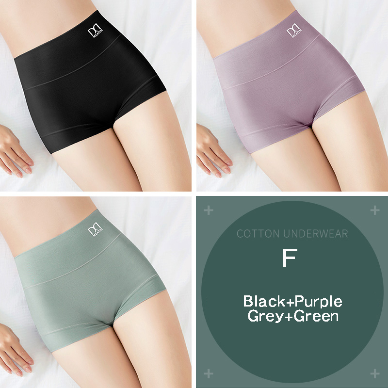 [3PCS/5PCS]/lot Women Silky Modal Panties Ladies High Waist Boyshort Breathable Soft Underwear Girls Briefs Safety Shorts Pants 21