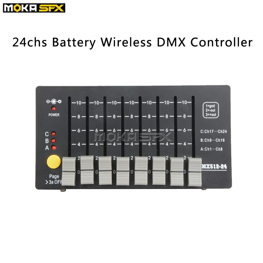 Портативный мини DMX 512 консоль 3*8 ch беспроводной аккумулятор сценический светильник dmx контроллер для вечерние концерты DJ Клубные вечерние