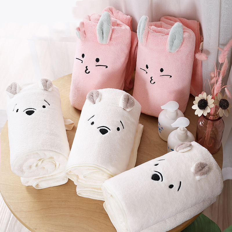 Children's Blanket Towels Kids Towel Children Toalla Kid Bathrobe Boys and Girls Spa Towel Beach Large Size for Kids Bath