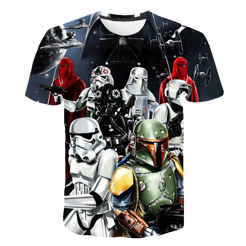2020 New <font><b>Camisetas</b></font> <font><b>Hombre</b></font> Novelty Star Wars kids T-Shirts Tshirts 3D Print Tops O-Neck Short Sleeve Male Funny Tees size 100-<font><b>6xl</b></font> image