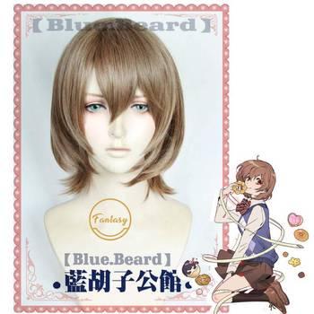 Persona5 Goro Akechi Cosplay żaroodporne włosy syntetyczne peruka do Cosplay + darmowa peruka Cap