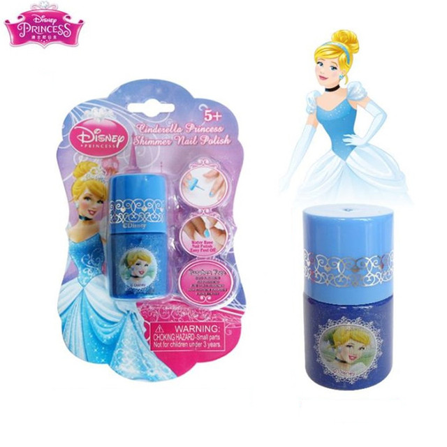 Disney Water-soluble Nail Polish Tearable Pretend Play Toys Children Girls Makeup Toy Gift 4