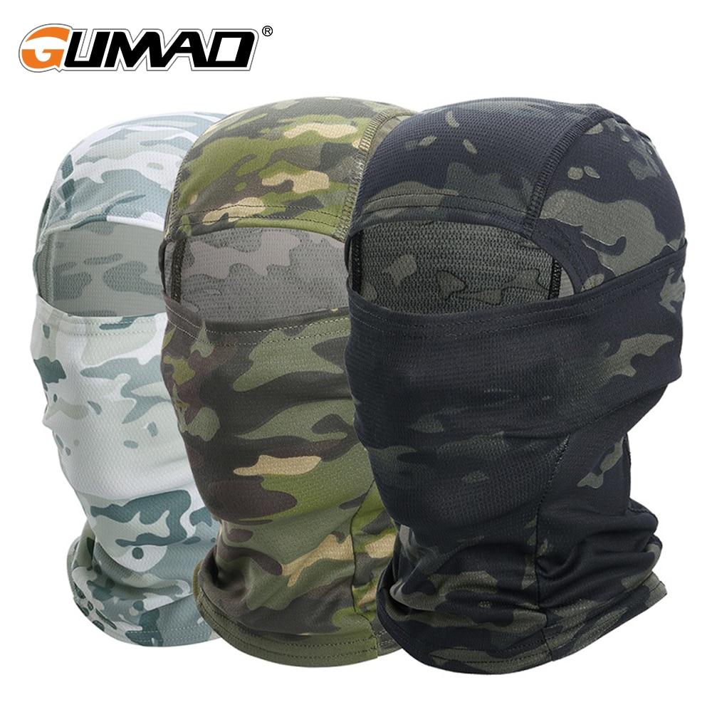 Cagoule de Camouflage Multicam pour hommes, masque foulard complet, randonnée, cyclisme, chasse, vélo de l'armée, couvre-chef militaire, casquette tactique Airsoft 1