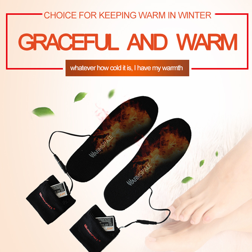 Electric Heated Insoles With Remote Control Rechargeable Battery Heated Insoles Foot Warmer For Skiing, Hiking And Fishing