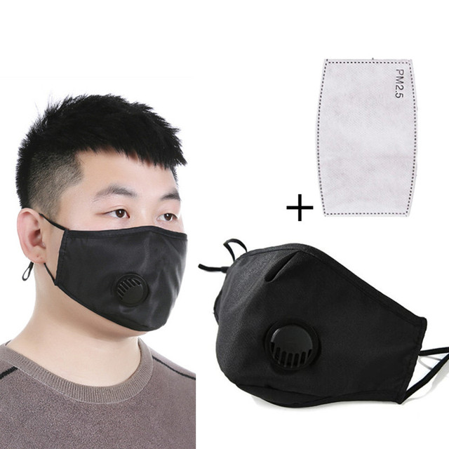 PM2.5 mouth Mask anti dust mask Cotton Activated carbon filter Windproof Mouth-muffle bacteria proof Flu Face masks Care Dust
