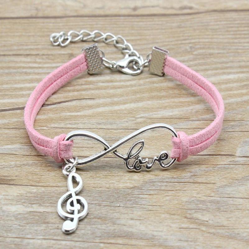 Music Lover Gift \u2013 Sterling Silver Note Bracelet